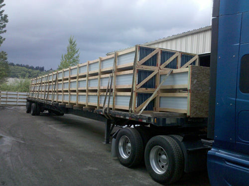 75' Long Standing Seam Panels On Flatbed